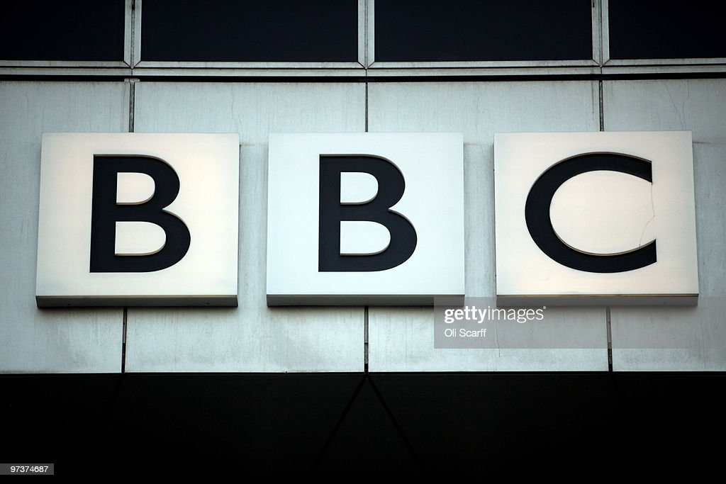 BBC logo adorns the front of the BBC Worldwide headquarters in White City on March 2 2010 in London England BBC Worldwide is the BBC's main...