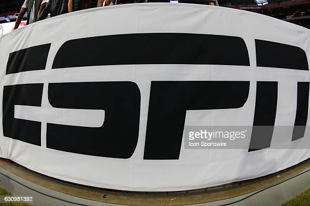 ESPN logo at the Playstation Fiesta Bowl college football game between the Ohio State Buckeyes and the Clemson Tigers on December 31 2016 at...