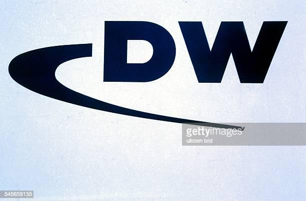 Logo des Senders `Deutsche Welle' aus Köln