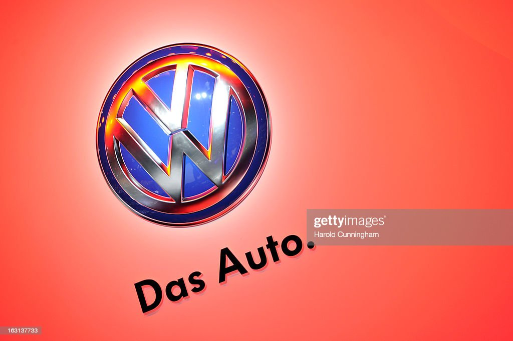 A VW logo is seen during the 83rd Geneva Motor Show on March 5, 2013 in Geneva, Switzerland. Held annually the Geneva Motor Show is one of the world's five most important auto shows with this year's event due to unveil more than 130 new products.