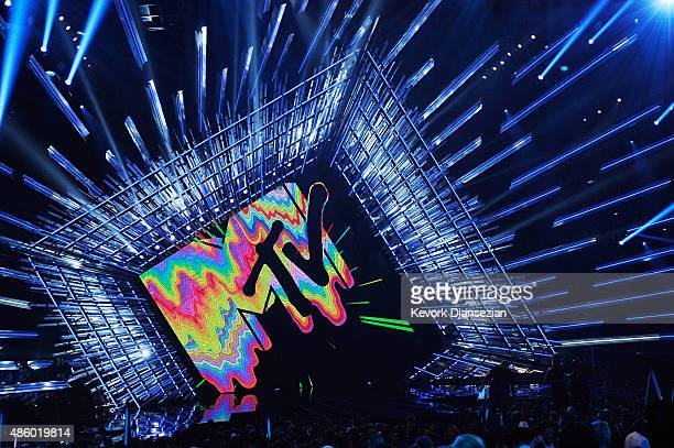 Logo is seen onstage during the 2015 MTV Video Music Awards at Microsoft Theater on August 30 2015 in Los Angeles California