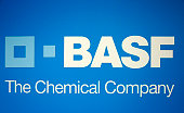 Logo of BASF SE displayed at the Annual Press Conference in Ludwigshafen Germany 25 February 2014 BASF the world's leading chemical company with more...