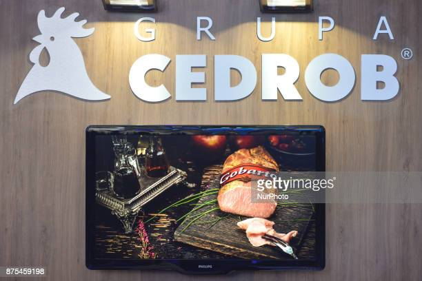 Logo of Cedrob Group seen at Congress 590 in the new Exhibition and Congress Centre in RzeszowJasionka Cedrob SA the largest producer of poultry meat...