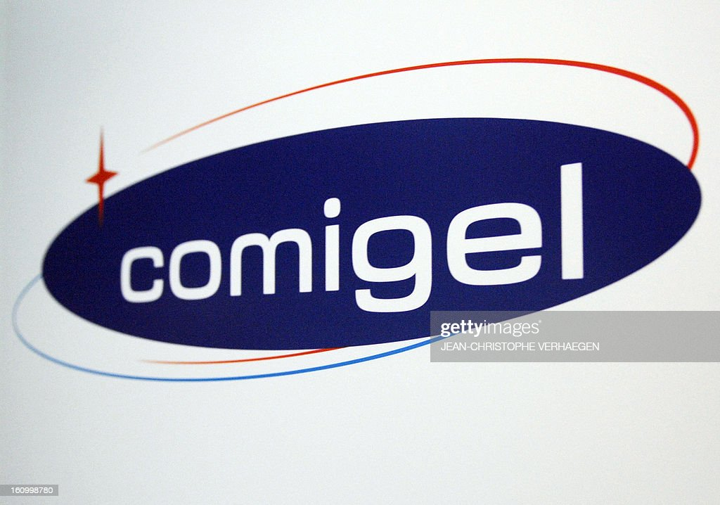 Logo of Comigel headquarters is pictured on February 8, 2013 in Metz, eastern France. The French food company that supplied frozen lasagne found to contain up to 100 percent horsemeat to British supermarkets today shut down its website and declined to answer media enquiries. Comigel, based in the northern city of Metz, supplies frozen meals to supermarket chains and other clients in 15 countries, with Germany, the Netherlands, Belgium and Scandinavia the main markets, according to industry websites. AFP PHOTO / JEAN-CHRISTOPHE VERHAEGEN
