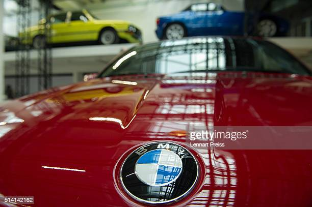 A logo of German automaker BMW in seen during the celebration marking the 100th anniversary of BMW on March 7 2016 in Munich Germany BMW began as a...