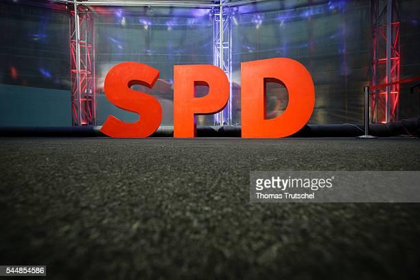Logo of German Social Democrats Party on July 02 2016 in Berlin Germany