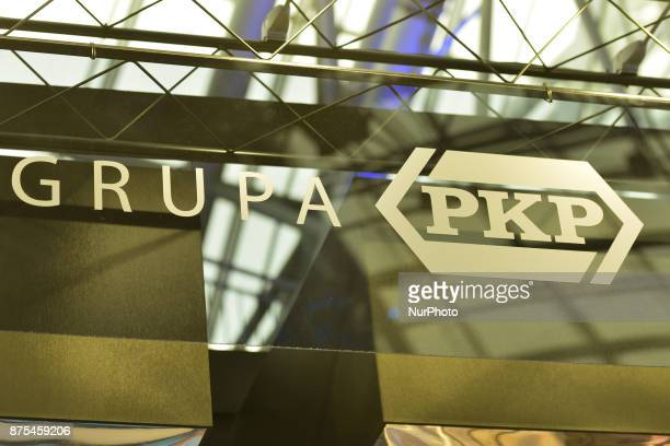 Grupa PKP a Polish conglomerate founded in 2001 from the former single national rail operator Polskie Koleje Panstwowe Logo seen at Congress 590 in...