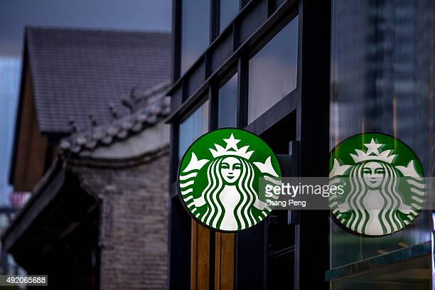 Logo of Starbucks with the backgrounds of Chinese ancient architecture China is Starbucks's fastestgrowing market expected to top 3400 stores by 2019