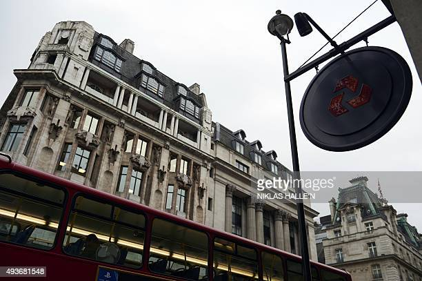 A logo of the British bank Natwest a unit of the Royal Bank of Scotland is seen on a sign outside a branch of the bank in London on October 22 2015...