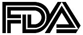 Logo of the Food and Drug Administration FDA of the USA for the food control and admittance of drugs