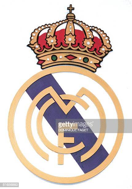 Logo of the Spanish soccer team Real Madrid 09 January 1998 in Madrid
