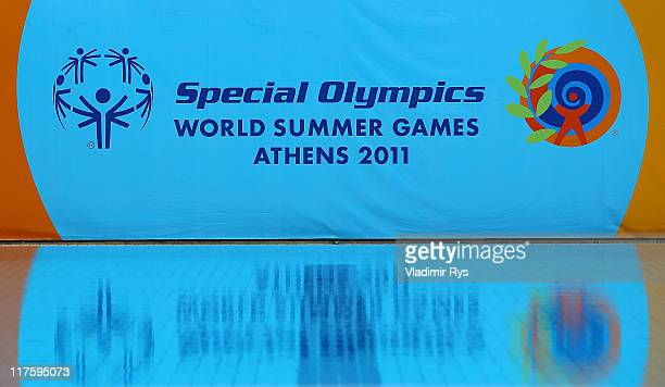 A logo of the Special Olympics is seen during the Athens 2011 Special Olympics World Summer Games on June 28 2011 in Athens Greece