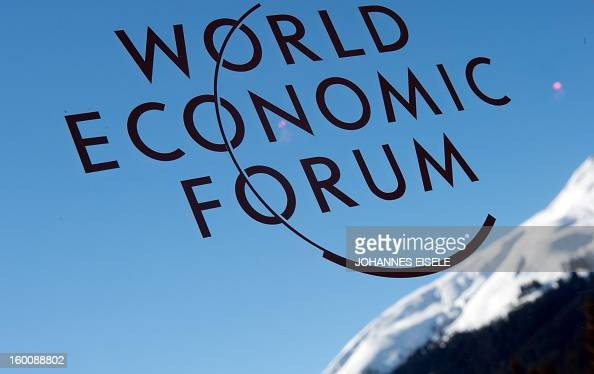 A logo of the World Economic Forum Annual Meeting 2013 is pictured on January 26 2013 at the Swiss resort of Davos AFP PHOTO / JOHANNES EISELE