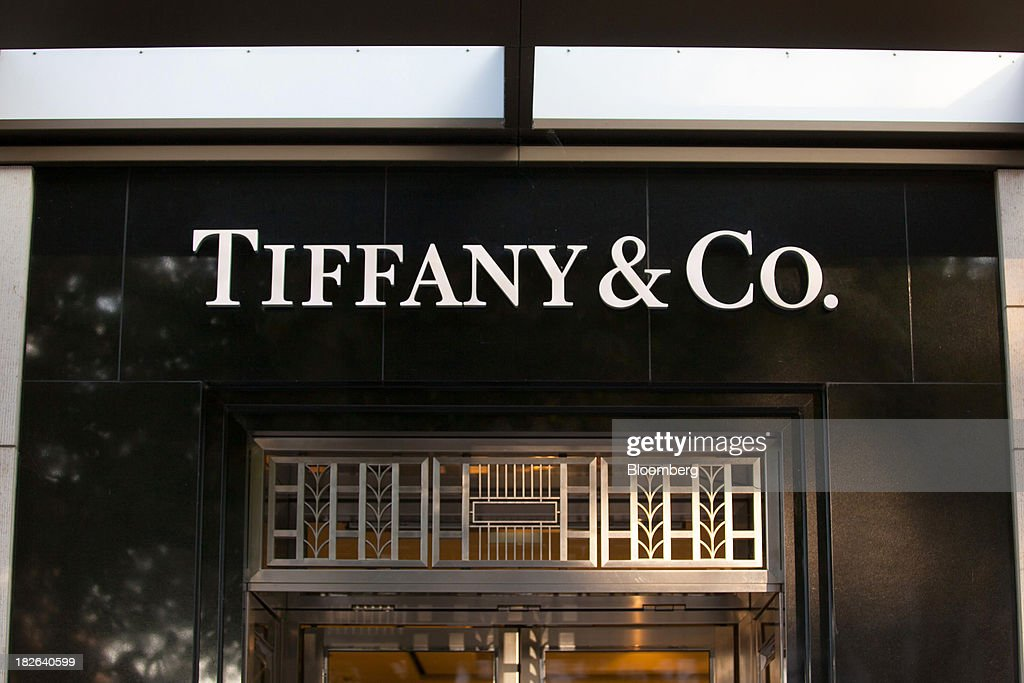 A logo sits above the entrance to the Tiffany Co luxury jewelry store in Dusseldorf Germany on Tuesday Oct 1 2013 The Bundesbank said last month that...