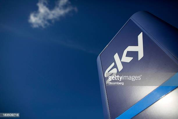 A logo sits on a sign outside British Sky Broadcasting Group Plc's headquarters in London UK on Friday Oct 4 2013 BSkyB will focus on creating new...