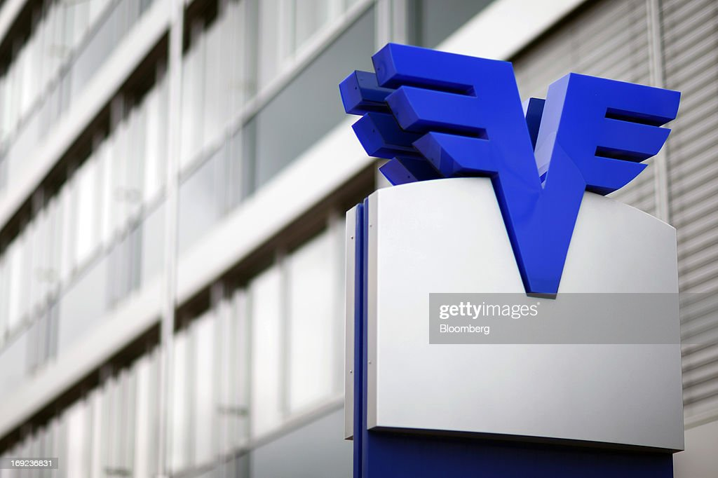 A logo sits on a sign outside the offices of Volksbank AG in Schaan near Vaduz, Liechtenstein, on Tuesday, May 21, 2013. Liechtenstein, an alpine principality once fabled for its banking secrecy laws, remains a place favored by billionaires to stash the holding companies and investment entities that control their assets. Photographer: Valentin Flauraud/Bloomberg via Getty Images