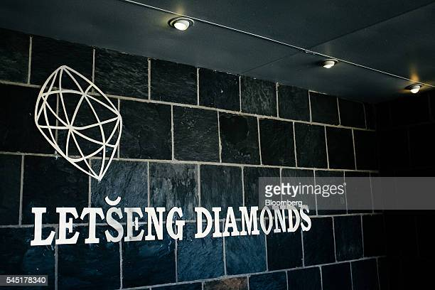 A logo sits on a wall inside the Letseng diamond mine operated by Gem Diamonds Ltd in Letseng Lesotho on Tuesday June 21 2016 Its average value of...