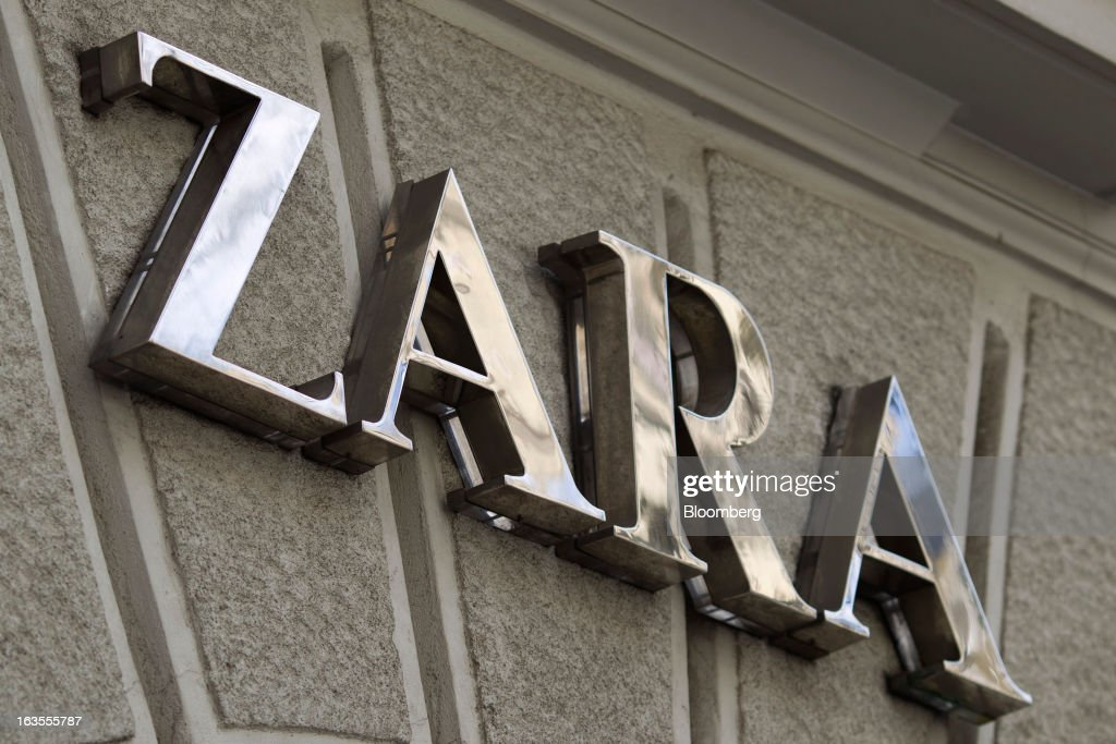 A logo sits on display outside a Zara fashion store, operated by Inditex SA, in Madrid, Spain, on Tuesday, March 12, 2013. Europe's richest man, Amancio Ortega, the 76-year-old founder of Inditex SA, the world's biggest clothing retailer and owner of the Zara clothing chain, is No. 3 on Standard & Poor's 500 Index with a net worth of $57.4 billion, $4.9 billion ahead of Warren Buffett, 82. Photographer: Angel Navarrete/Bloomberg via Getty Images