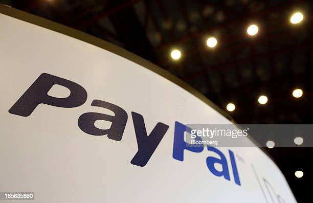 A logo sits on the PayPal company stand a unit of Ebay Inc during the Apps World MultiPlatform Developer Show in London UK on Wednesday Oct 23 2013...