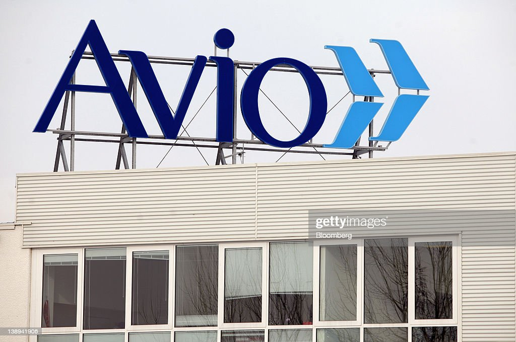 A logo sits on the roof of Avio SpA's headquarters in Colleferro, near Rome, Italy, on Monday, Feb. 13, 2012. Avio SpA, an Italian provider of aerospace services and equipment including gearboxes for aircraft engines, aims to sell shares to the public when the market improves, Chief Executive Officer Francesco Caio said in an interview. Photographer: Alessia Pierdomenico/Bloomberg via Getty Images