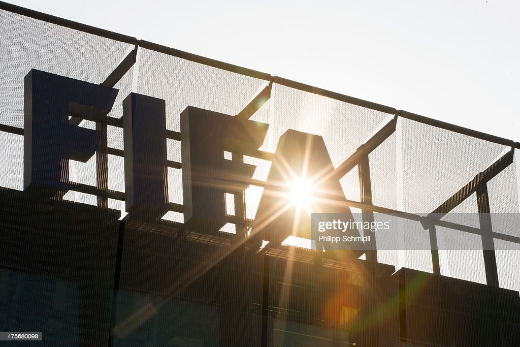 A FIFA logo sits on the rooftop at the FIFA headquarters on June 3, 2015 in Zurich, Switzerland. Joseph S. Blatter resigned as president of FIFA. The 79-year-old Swiss official, FIFA president for 17 years said a special congress would be called to elect a successor.