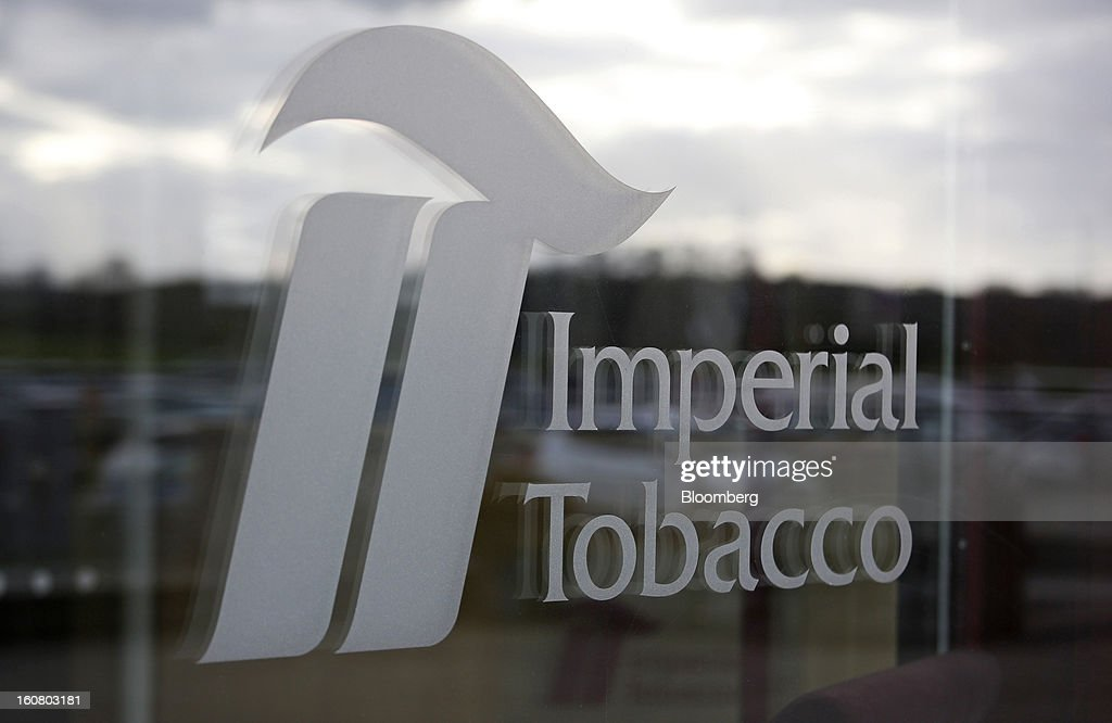 A logo sits outside Imperial Tobacco Group Plc's factory in Nottingham, U.K., on Friday, Feb. 1, 2013. Imperial Tobacco Group Plc is Europe's second-biggest tobacco company and generates about 40 percent of its profit from the region. Photographer: Chris Ratcliffe/Bloomberg via Getty Images