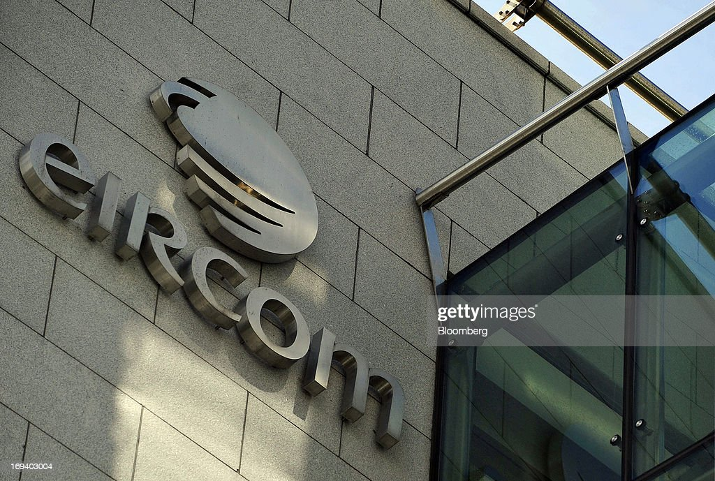 A logo sits outside the headquarters of Eircom Group in Dublin, Ireland, on Thursday, May 23, 2013. Eircom Group, which has changed ownership six times since 1999, 'would like to be consolidators rather than consolidated' amid expected mergers and acquisitions in the Irish telecoms market, its Chief Financial Officer Richard Moat said. Photographer: Aidan Crawley/Bloomberg via Getty Images