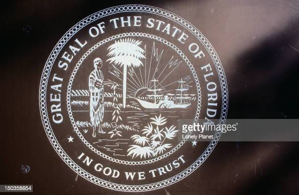 Logo: The Great Seal of Florida, In God We Trust - Florida