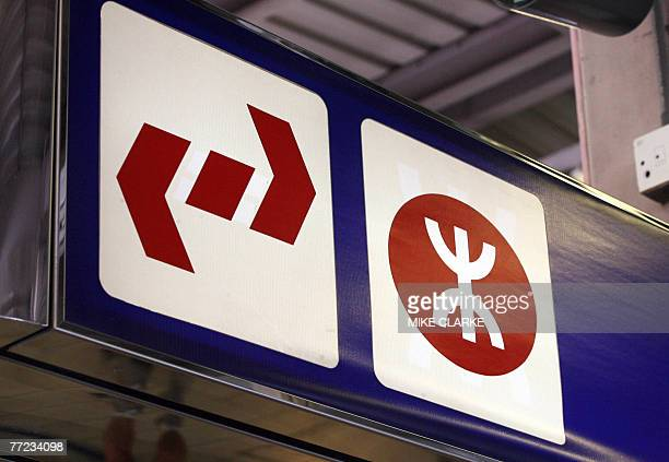 Logos of the KowloonCanton Railway and Mass Transit Railways are seen in Hong Kong 09 October 2007 Shares of Hong Kong's largest railway operator MTR...