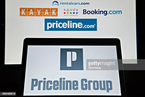 Logos of websites owned by The Priceline Group are displayed on computer monitors in Tiskilwa Illinois US on Tuesday April 8 2014 On April 1...