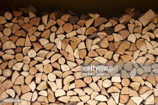 Logs in woodstore