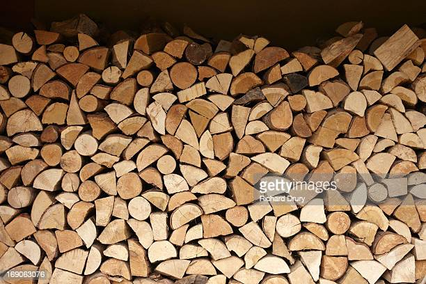 Logs in woodstore