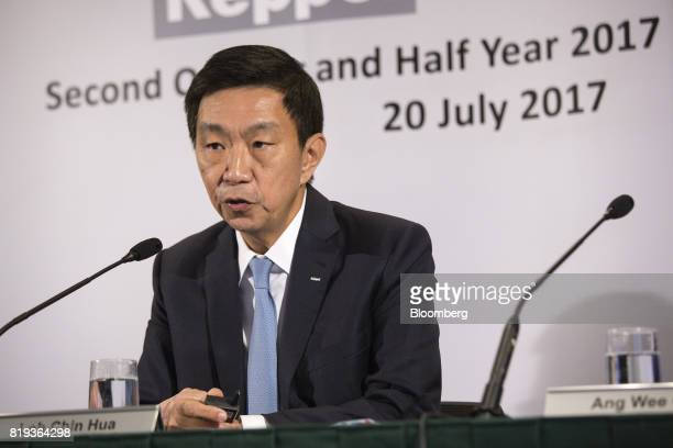 Loh Chin Hua chief executive officer of Keppel Corp speaks during a news briefing in Singapore on Thursday July 20 2017 Keppel Corpsaid its going to...
