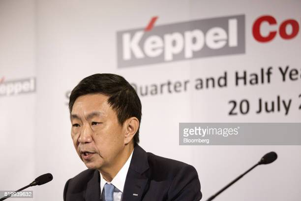 Loh Chin Hua chief executive officer of Keppel Corp speaks during a news conference in Singapore on Thursday July 20 2017 Keppelsaid it's going to...
