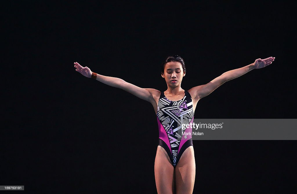 Loh Zhiayi of Malaysia competes in the Diving on day five of the Australian Youth Olympic Festival at Sydney Olympic Park Aquatic Centre on January 20, 2013 in Sydney, Australia.