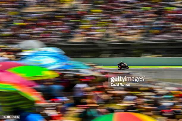 Loi livio of Belgium and Leopard Racing rides during the Moto2 of Catalunya at Circuit de Catalunya on June 11 2017 in Montmelo Spain