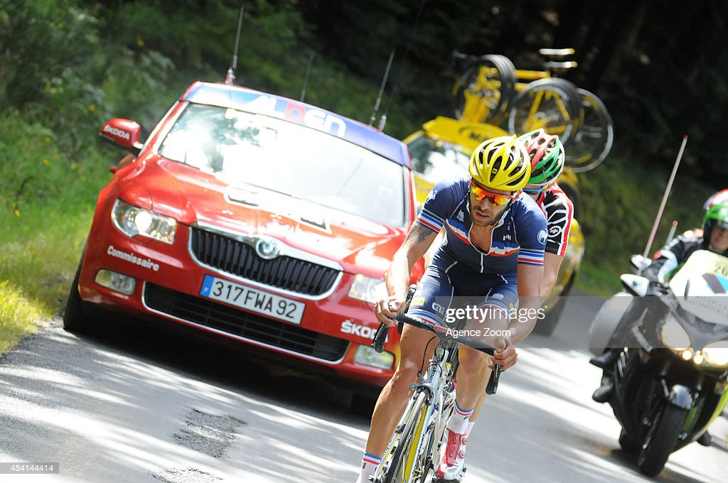 Loic Chetout of France rides during Stage Two of the Tour de l'Avenir on August 25, 2014 in Brioude, France.