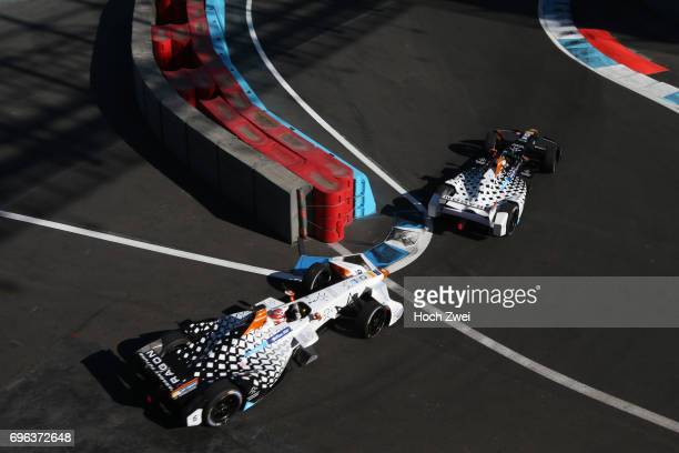 Loic Duval of France Jerome d'Ambrosio of Belgium during the FormulaE Championship 2017 on April 1 2017 in Mexico City Mexico