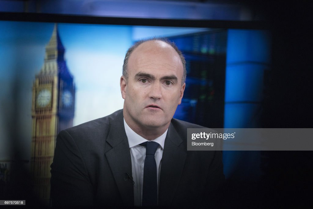 Loic Fery, chief executive officer of Chenavari Credit Partners LLP, speaks during a Bloomberg Television interview in London, U.K., on Monday, June 19, 2017. Fery started the London-based hedge-fund firm Chenavari in 2007. Photographer: Jason Alden/Bloomberg via Getty Images