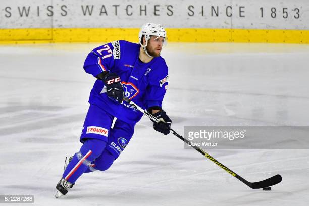 Loic Lamperier of France during the EIHF Ice Hockey Four Nations tournament match between France and Slovenia on November 9 2017 in Cergy France