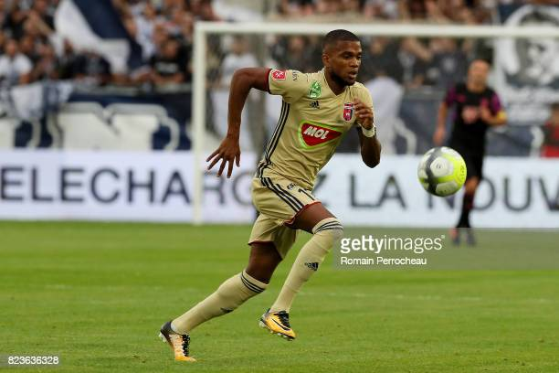 Loic Nego of Videoton in action during the UEFA Europa League qualifying match between Bordeaux and Videoton at Stade Matmut Atlantique on July 27...