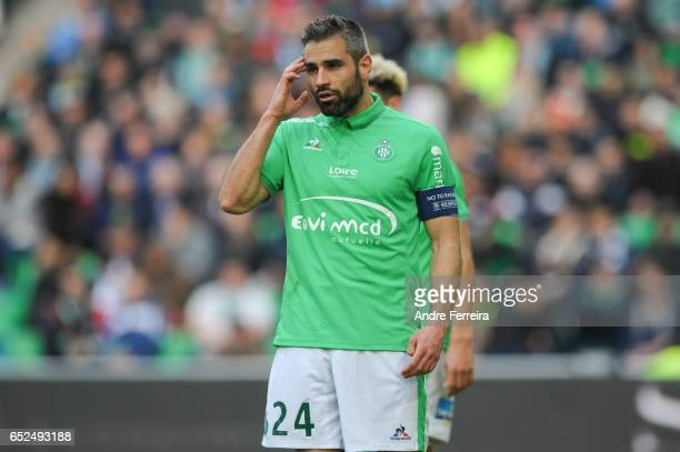Loic Perin of Saint Etienne during the French Ligue 1 match between Saint Etienne and Metz at Stade GeoffroyGuichard on March 12 2017 in SaintEtienne...