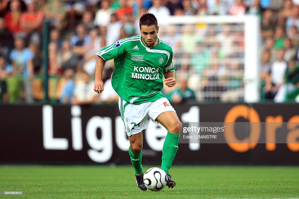 Loic Perrin during the French Ligue 1 soccer match between AS Saint Etienne and Girondins de Bordeaux | Location Saint Etienne France