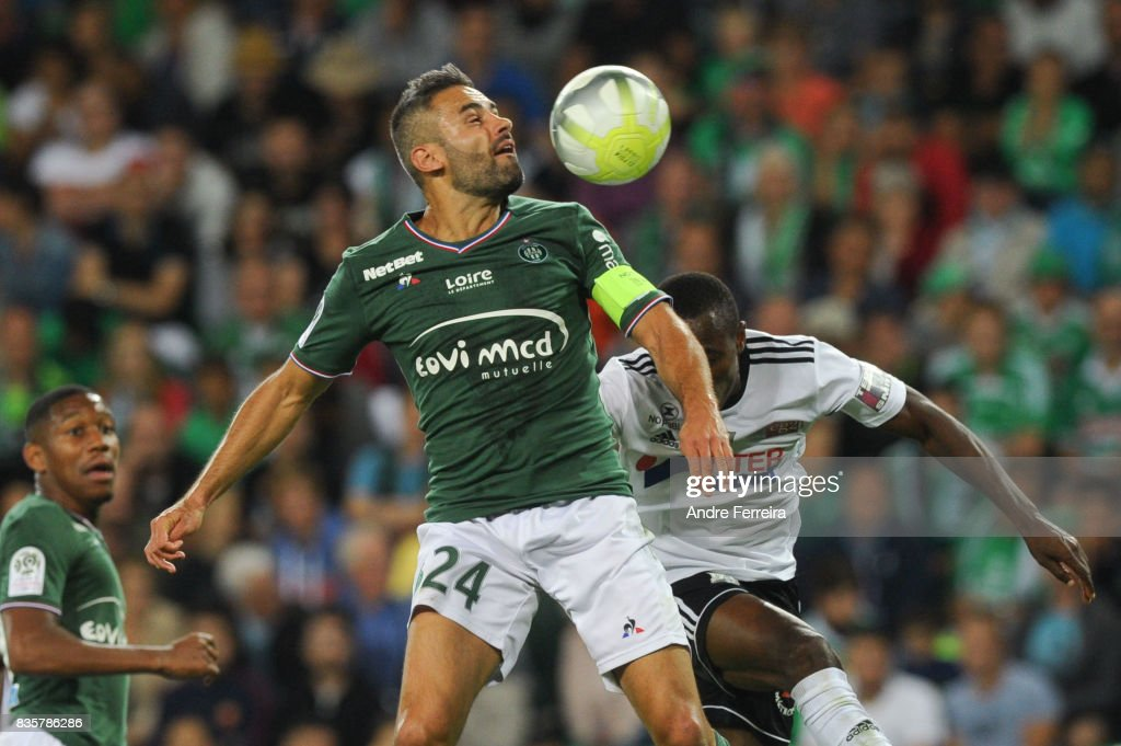 Loic Perrin of Saint Etienne during the Ligue 1 match between AS Saint Etienne and Amiens SC at Stade Geoffroy Guichard on August 19, 2017 in Saint Etienne, France.