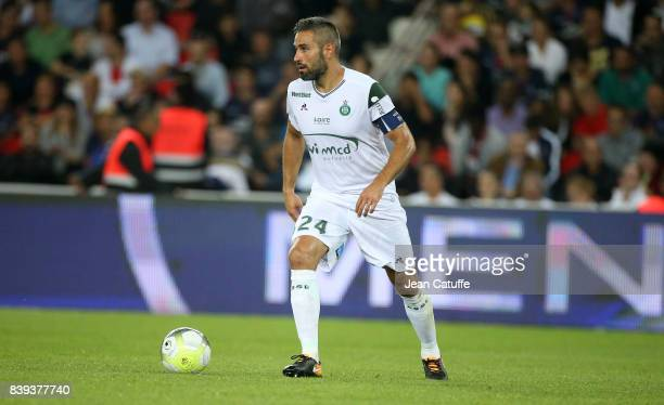 Loic Perrin of SaintEtienne during the French Ligue 1 match between Paris Saint Germain and AS SaintEtienne at Parc des Princes on August 25 2017 in...