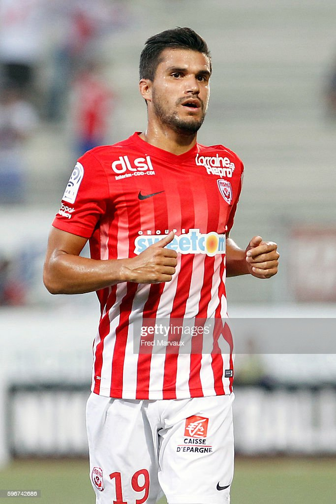 Loic Puyo of Nancy during the French Ligue 1 between Nancy and Guingamp at Stade Marcel Picot on August 27 2016 in Nancy France