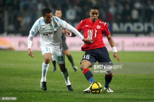 Loic REMY / Franck BERIA Marseille / Lille 26eme journee de Ligue 1 Marseille