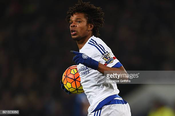 Loic Remy of Chelsea celebrates after scoring a goal during the Barclays Premier League match between Leicester City and Chelsea at the King Power...