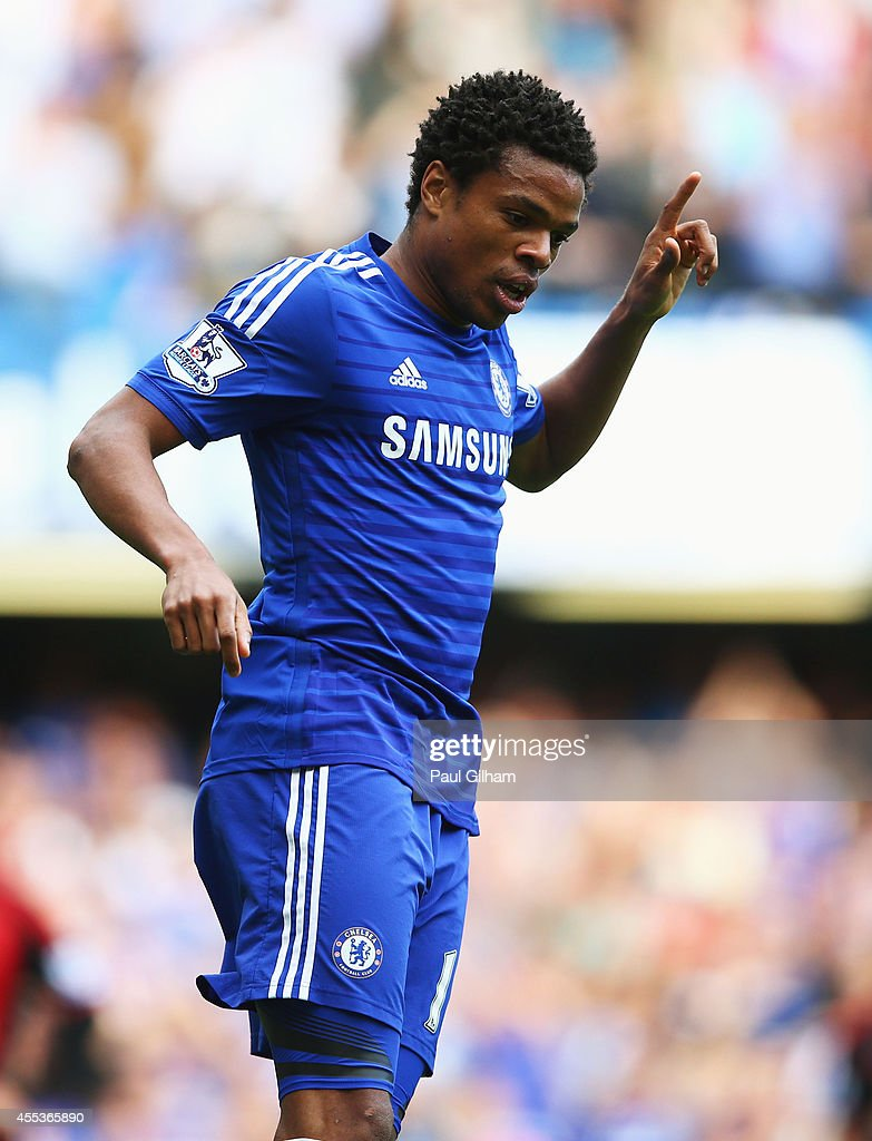 Loic Remy of Chelsea celebrates as he scores their fourth goal during the Barclays Premier League match between Chelsea and Swansea City at Stamford Bridge on September 13, 2014 in London, England.