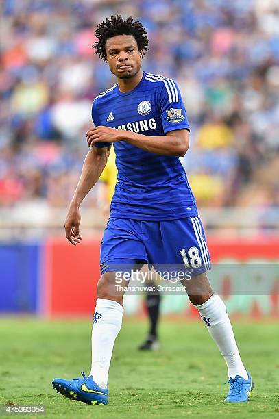 Loic Remy of Chelsea FC walks during the international friendly match between Thailand AllStars and Chelsea FC at Rajamangala Stadium on May 30 2015...